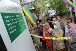 Hj Niken Resmikan Ruang Pengolahan Hasil Ternak Desa Teruwai Pujut