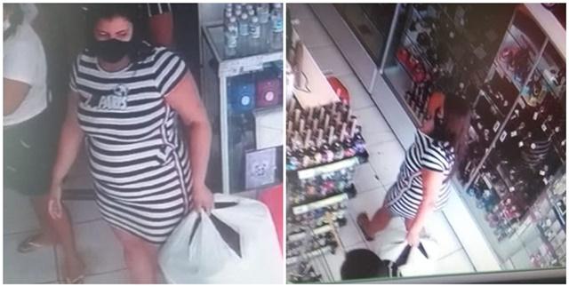 Vídeo: Câmeras flagram mulher furtando loja no alto sertão paraibano