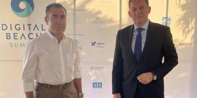 Ο Δήμαρχος Πάργας κ. Ζαχαριάς συναντήθηκε την Παρασκευή 3/9 με τον Αναπληρωτή Υπουργό Εσωτερικών κ. Πέτσα στο περιθώριο του 1ου Digital Beach Summit που πραγματοποιείται από τον Δήμο Πρέβεζας στην παραλία Μονολίθι.