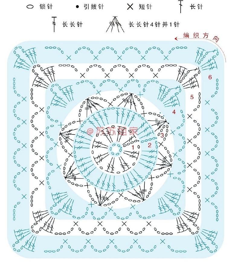 Схемы вязания топика из мотивов (1)