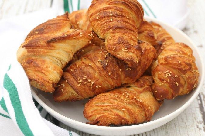 Pretzel Croissants in a bowl