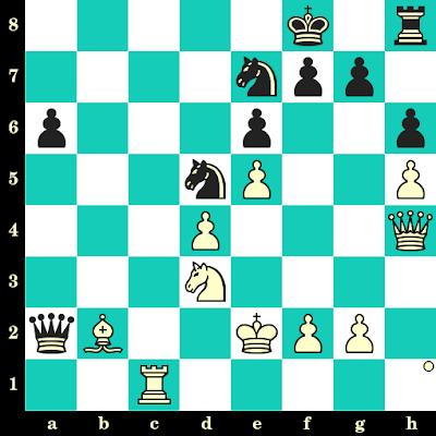 Les Blancs jouent et matent en 2 coups - Judit Polgar vs E. Bareev, Rapide PCA du Kremlin à Moscou, 1996