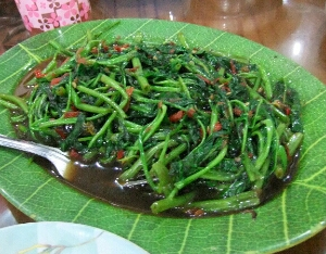 cara memilih sayuran kangkung segar