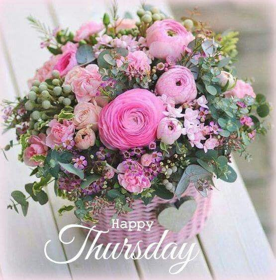 Happy Thursday Good Morning Flowers Wishes & Greetings