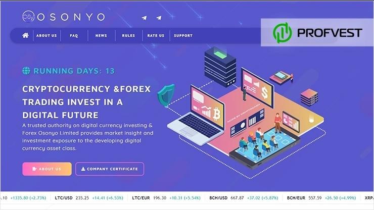 Osonyo Trade обзор и отзывы HYIP-проекта