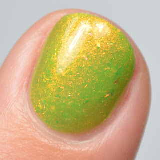 green nail polish with shimmer