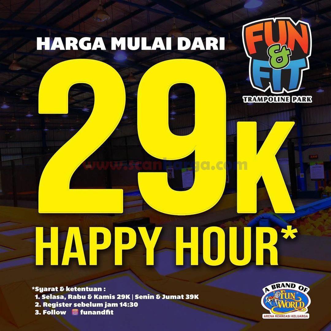 Promo FUN & FIT Trampoline Park: Happy Hour Harga Mulai dari Rp 29.000*