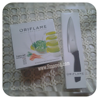 Oriflame Delux Glass Bowl Set & Oriflame Chef Knife