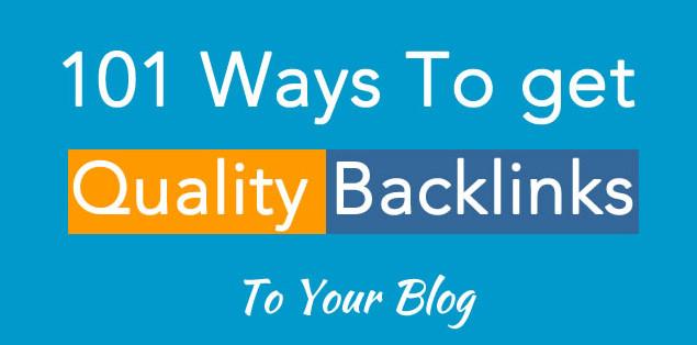101 Cara Membangun Backlink Kualitas Baik Untuk Blog Baru