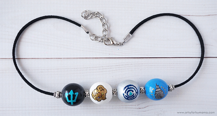 DIY Percy Jackson Camp Half-Blood Necklace