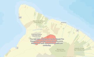 Big Island Hawaii Brushfire map