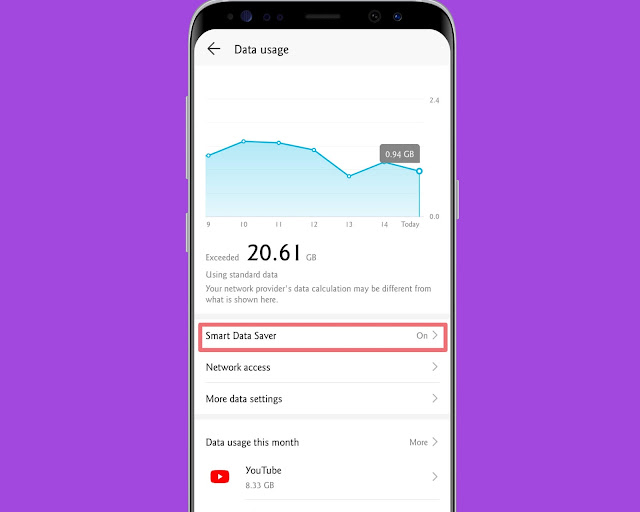 Restrict Background Data Usage - hidden android features