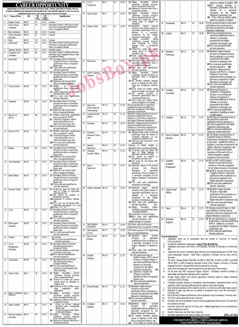 university-of-narowal-uon-jobs-application-form