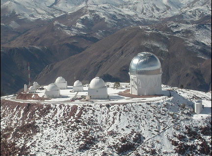 Some SMARTS domes on Cerro Tololo, Chile (Source: SMARTS Consortium)