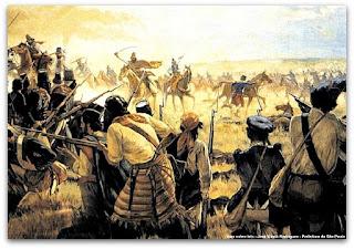 Batalha dos Farrapos, óleo sobre tela, José Washington Rodrigues - Prefeitura Municipal de São Paulo