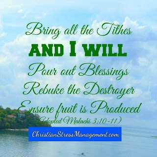 Bring all the tithes and I will pour out blessings, rebuke the devourer and ensure fruit is produced. Malachi 3:10