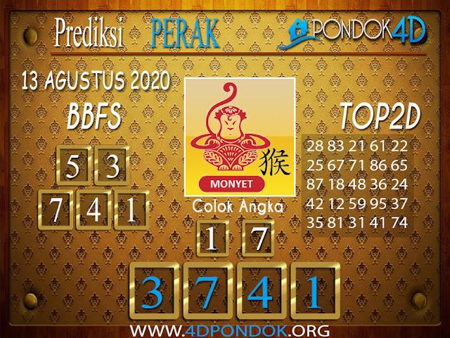 Prediksi Togel PERAK PONDOK4D 13 AGUSTUS 2020