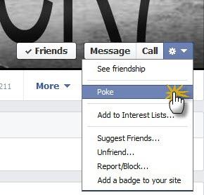 معني كلمة نكز او وكز في الفيس بوك Facebook Poke Word