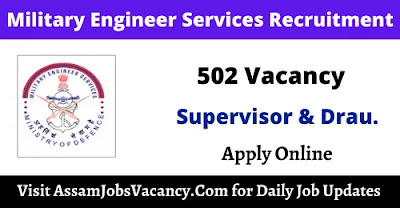 Military Engineer Services Recruitment 502 Supervisor & Draughtsman Vacancy