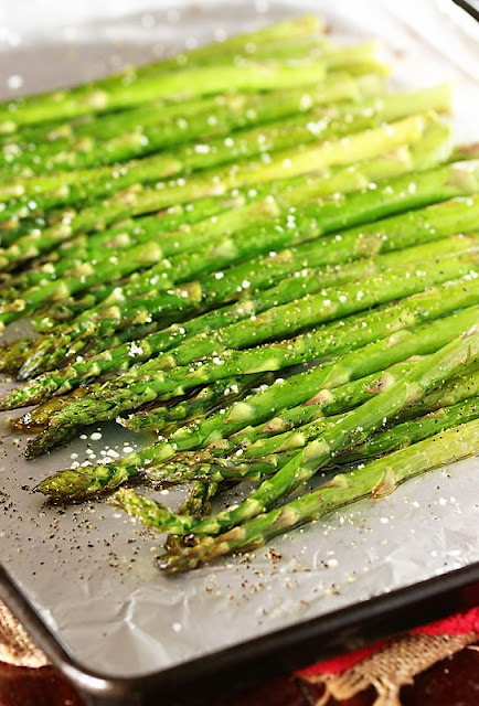 Preparing to Roast Asparagus Image