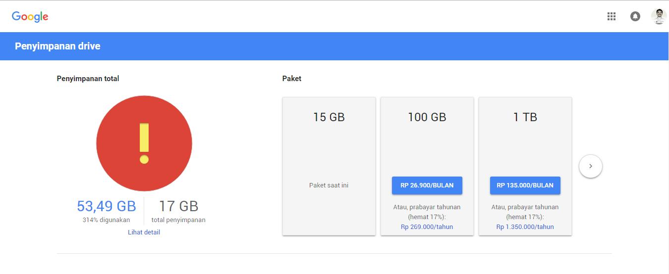 Tips Cara Beli Penyimpanan Google Drive paling mudah