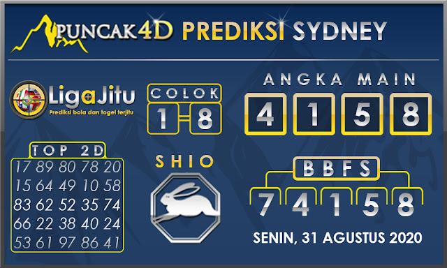 PREDIKSI TOGEL SYDNEY PUNCAK4D 31 AGUSTUS 2020