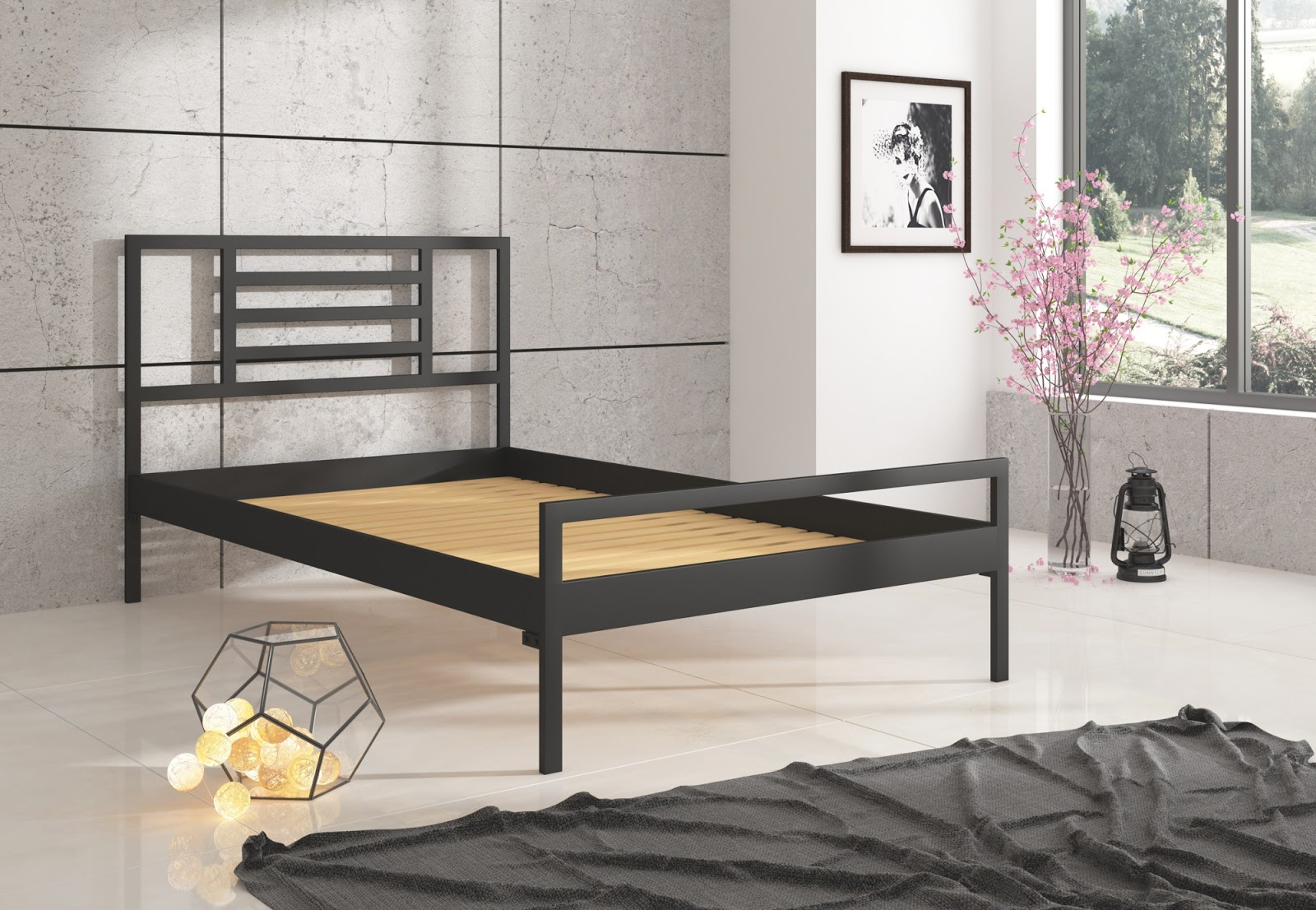 Łóżko metalowe wzór 33 (120-160 cm)