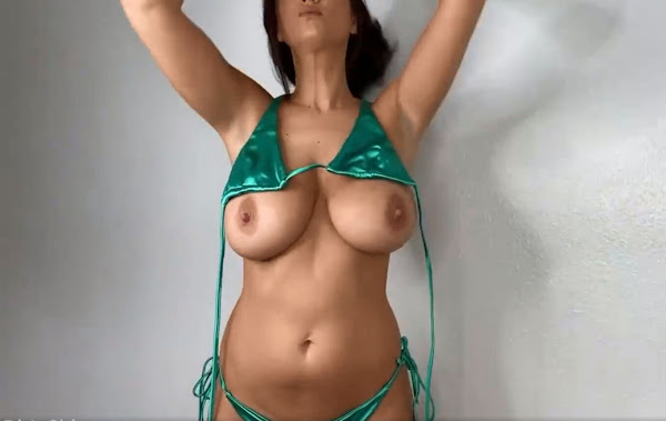 try on haul-busty-glamour-model-topless-10