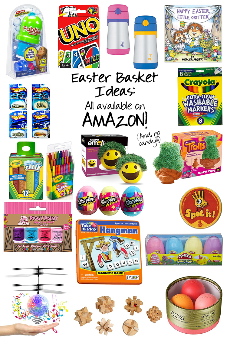 Midwestern mama easter basket ideas that are not candy and are easter book emoji chia pet or heres a troll sippie cup or canteen sidewalk chalk brain teaser puzzle toys negle Image collections