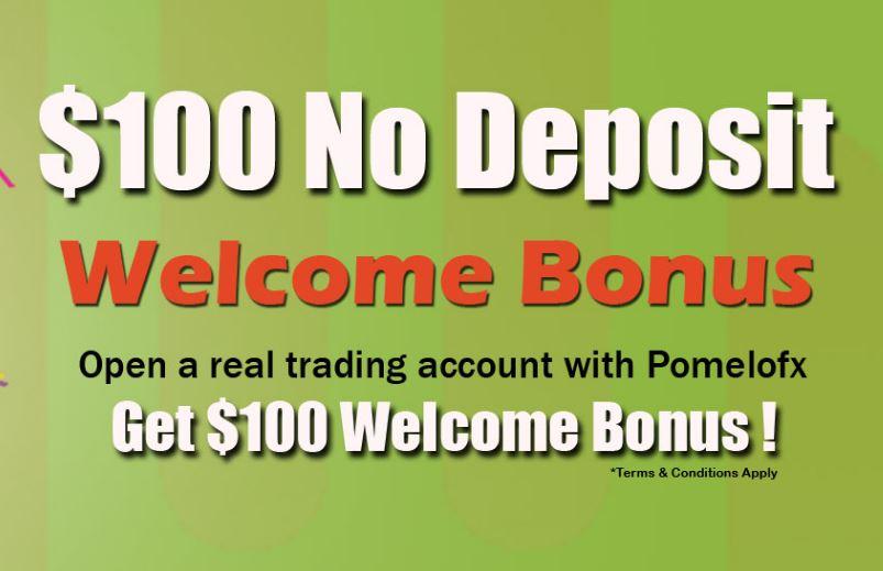 PomeloFX $100 Forex No Deposit Bonus