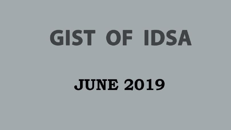GIST of IDSA June 2019