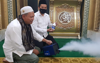 Mesin Fogging AG-800 Cocok Digunakan Untuk Penagkal Virus di Masjid