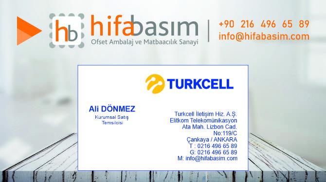 Turkcell Kurumsal Kartvizit Modeli
