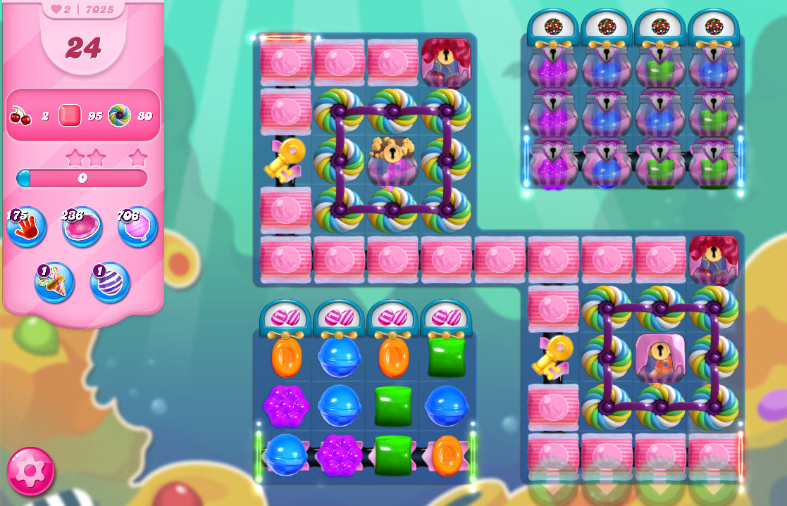 Candy Crush Saga level 7025