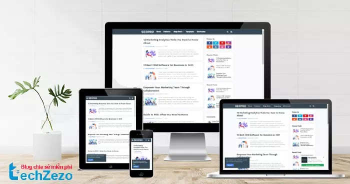 SeoPro Blogger Template v1.4 Premium Free Download