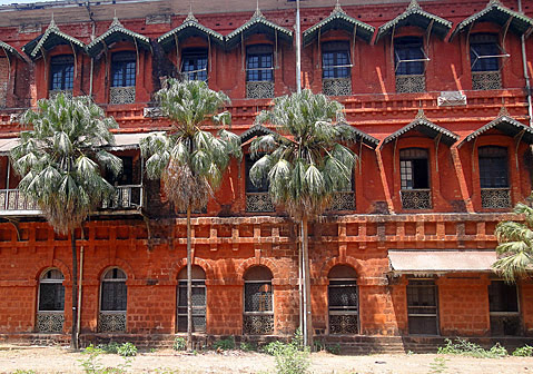 Remains of the Old Yangon Railway Station it's been renovated