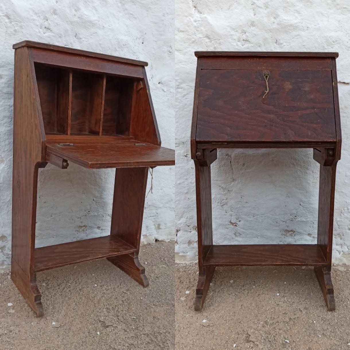 Antes y después de un mueble auxiliar, transformación de un escritorio infantil.