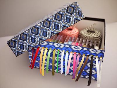 Caja organizadora de cintas en Recicla Inventa