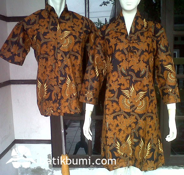 Batik Sarimbit Dress Sogan SD 053