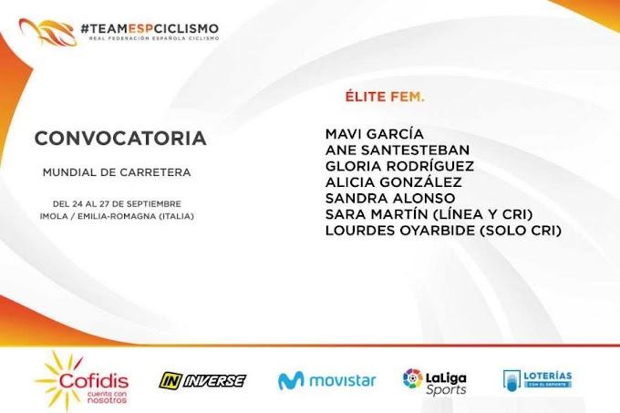 La seleccionadora, Gema Pascual, anunció las ciclistas que acudirán al Mundial de Imola