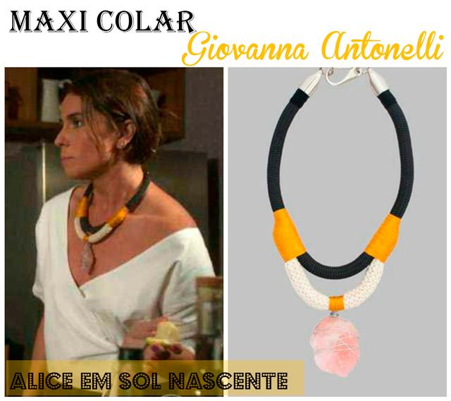 Descubra o maxi colar de Giovanna Antonelli, a Alice em Sol Nascente