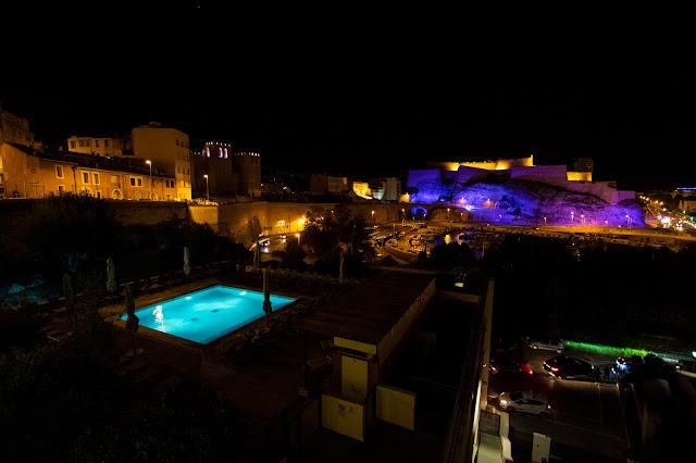 Vista sulla Cittadelle di notte, Marsiglia