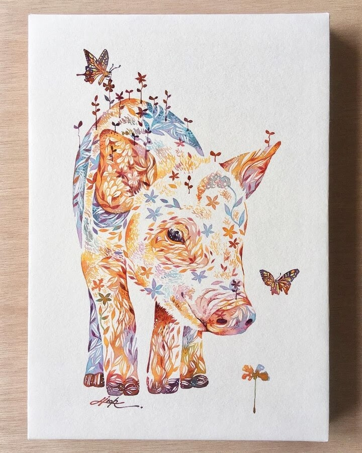 07-The-pig-and-the-butterfly-Hiroki-Takeda-タケダヒロキ-www-designstack-co