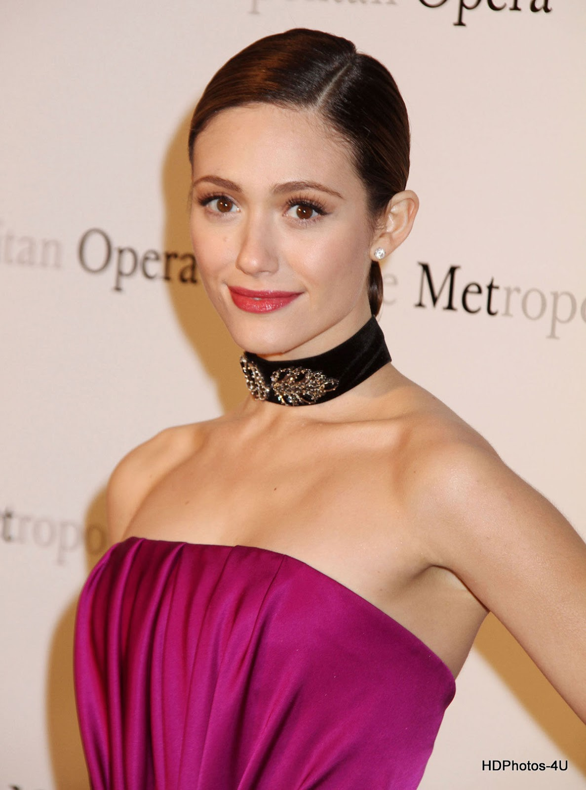 4K Photos of Emmy Rossum in Pink Dress at Metropolitan Opera Gala Premiere of Manon in New York