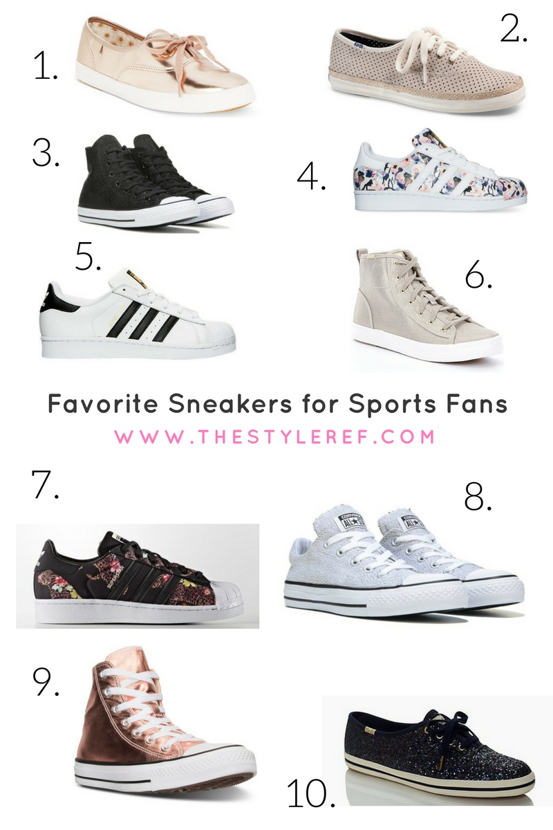 fashion sneakers for sports fans