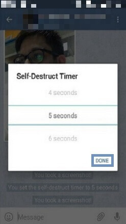 Self-destruct timer