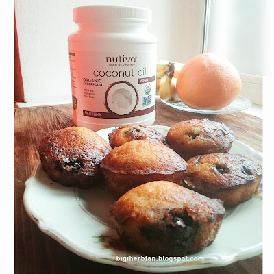 Coconut oil Nutiva and recipe of glutemn free paleo muffins