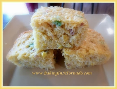 Smoky Cornbread | recipe developed by www.BakingInATornado.com | #recipe #bread