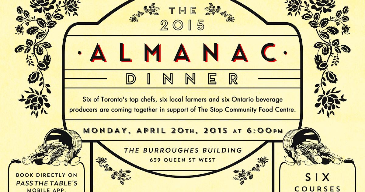 The 2015 Almanac Dinner - Food Junkie Chronicles