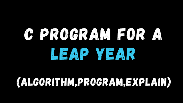 C program for a leap year